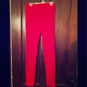 LuLaRoe Red OS leggings.